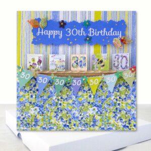 Luxury Happy 30th Birthday Boxed Card Extra 6 x 6