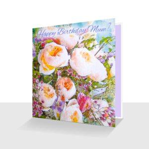 Happy Birthday Mum Card : Summer Flowers