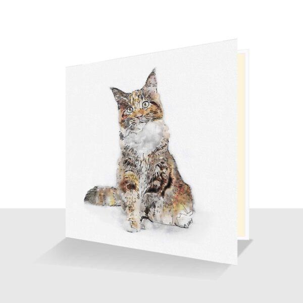 Cat GREETING CARD : BLANK INSIDE