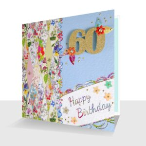 Colourful 60th Birthday Card Patchwork