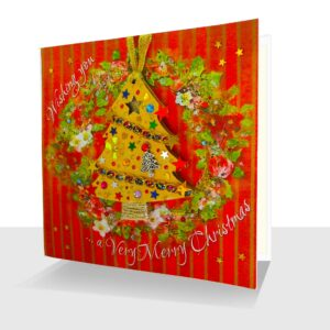Unique Luxury Christmas Card with Detachable Tree Ornament : Sumptuously Handcrafted