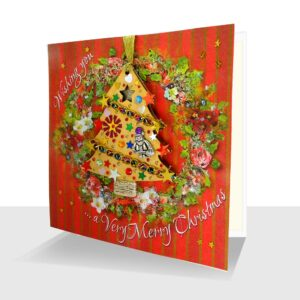 Christmas Card with Ornament : Luxury Handmade Card with Tree Decoration