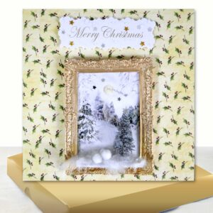 Luxury Boxed Christmas Card : 3D Christmas Tree Snow Scene